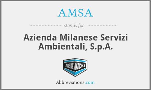 AMSA - Azienda Milanese Servizi Ambientali, S.p.A.