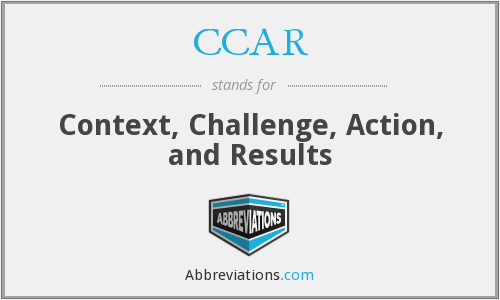 CCAR - Context, Challenge, Action, and Results