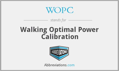 WOPC - Walking Optimal Power Calibration