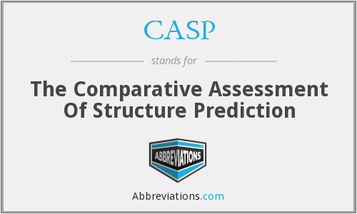 CASP - The Comparative Assessment Of Structure Prediction