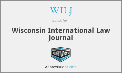 WILJ - Wisconsin International Law Journal