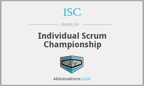 What does scrum stand for?