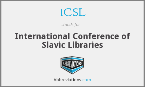 ICSL - International Conference of Slavic Libraries