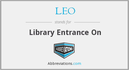 LEO - Library Entrance On