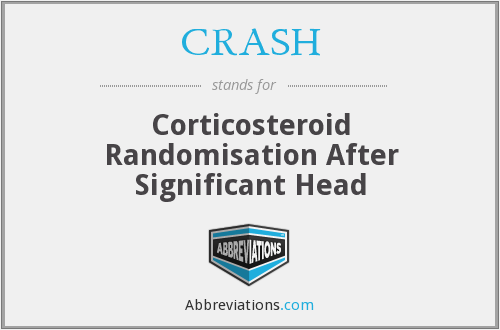 CRASH - Corticosteroid Randomisation After Significant Head