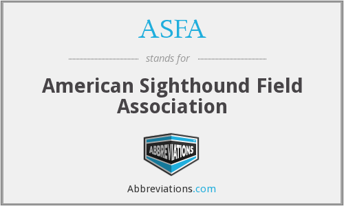 ASFA - American Sighthound Field Association