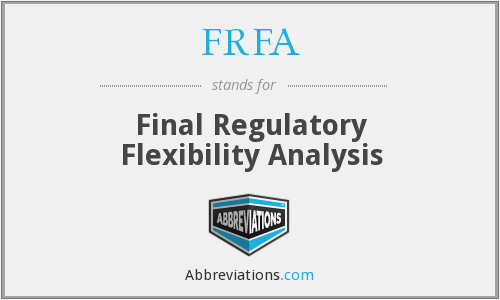 What does FRFA stand for?