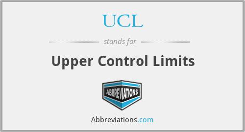 UCL - Upper Control Limits