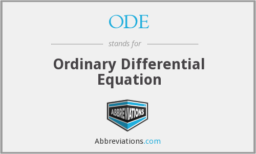 ODE - Ordinary Differential Equation