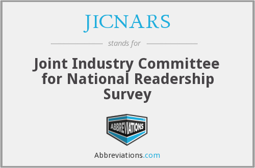 What does JICNARS stand for?