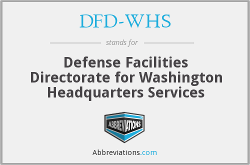What does DFD-WHS stand for?