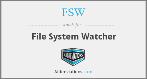 FSW - File System Watcher