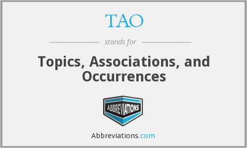 TAO - Topics, Associations, and Occurrences
