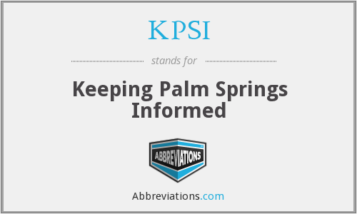 What does KPSI stand for?
