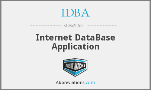 IDBA - Internet DataBase Application