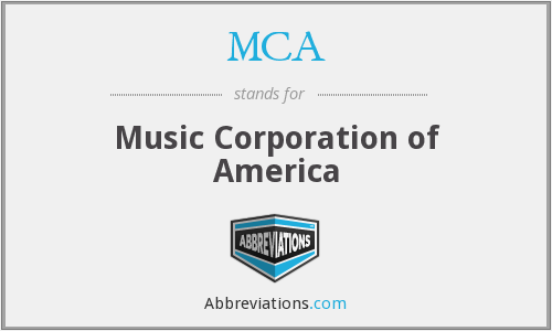 MCA - Music Corporation of America