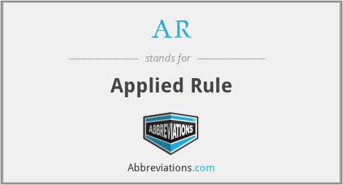 AR - Applied Rule