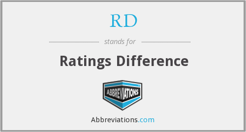 RD - Ratings Difference