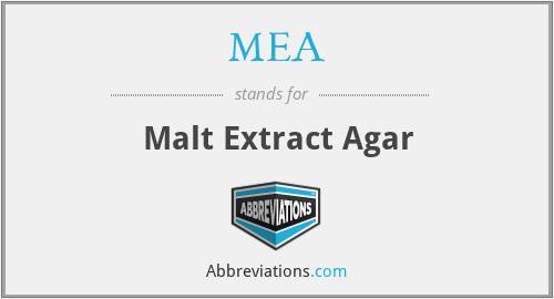 MEA - Malt Extract Agar