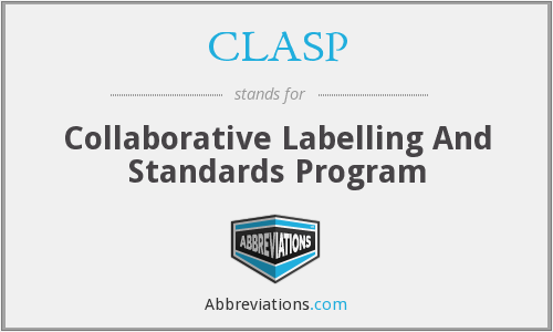 CLASP - Collaborative Labelling And Standards Program