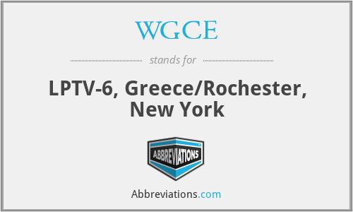 WGCE - LPTV-6, Greece/Rochester, New York
