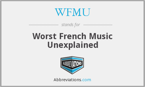 What does WFMU stand for?