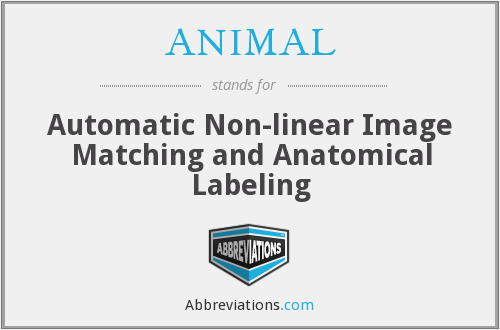 ANIMAL - Automatic Non-linear Image Matching and Anatomical Labeling