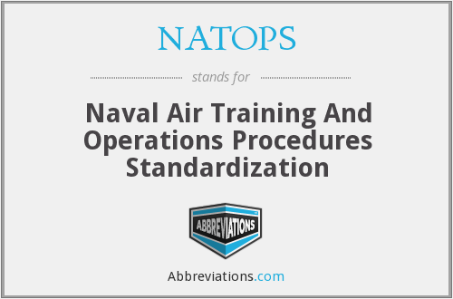 NATOPS - Naval Air Training And Operations Procedures Standardization