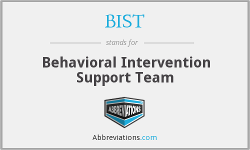 BIST - Behavioral Intervention Support Team