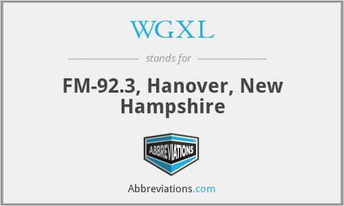 WGXL - FM-92.3, Hanover, New Hampshire