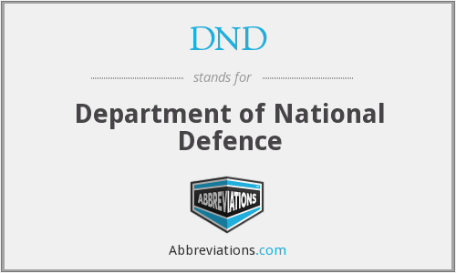 DND - Department of National Defence