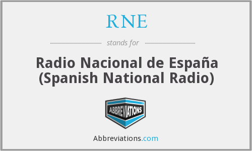 RNE - Radio Nacional de España (Spanish National Radio)