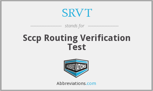 SRVT - Sccp Routing Verification Test