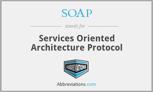 SOAP - Services Oriented Architecture Protocol
