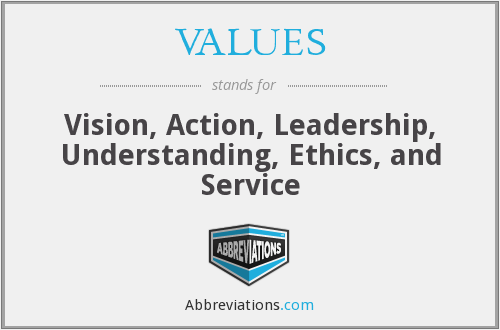 What does VALUES stand for?