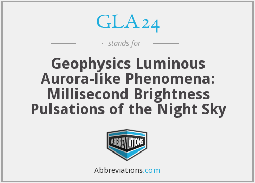 GLA24 - Geophysics Luminous Aurora-like Phenomena: Millisecond Brightness Pulsations of the Night Sky