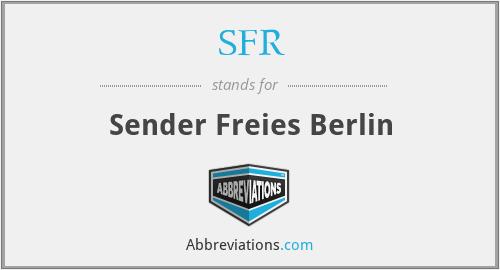 SFR - Sender Freies Berlin