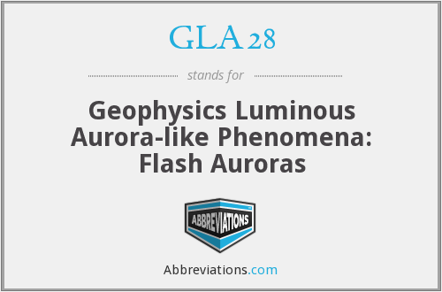 GLA28 - Geophysics Luminous Aurora-like Phenomena: Flash Auroras