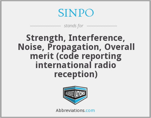What does SINPO stand for?