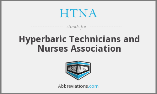 HTNA - Hyperbaric Technicians and Nurses Association