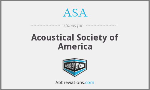 ASA - Acoustical Society of America