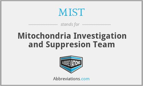MIST - Mitochondria Investigation and Suppresion Team
