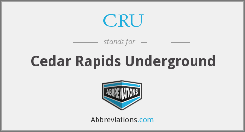 What does CRU stand for?