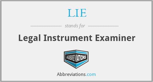 LIE - Legal Instrument Examiner