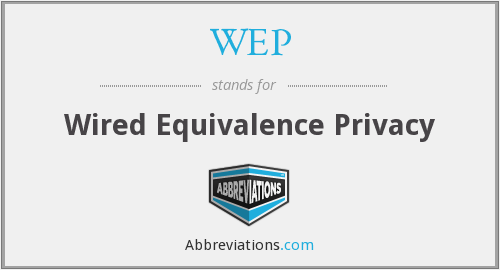 WEP - Wired Equivalence Privacy