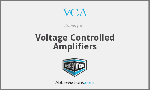 VCA - Voltage Controlled Amplifiers