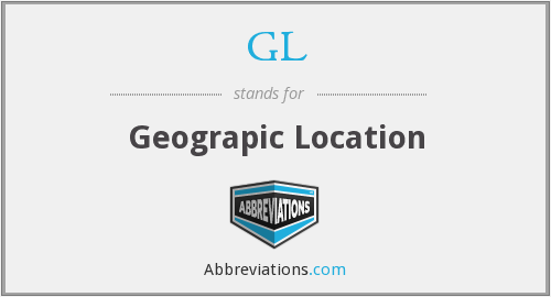 GL - Geograpic Location