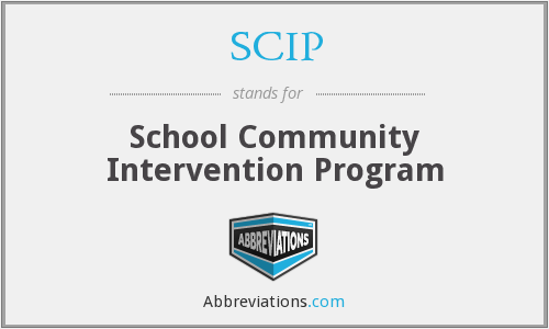 SCIP - School Community Intervention Program