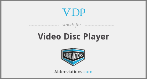 VDP - Video Disc Player