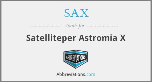 SAX - Satelliteper Astromia X